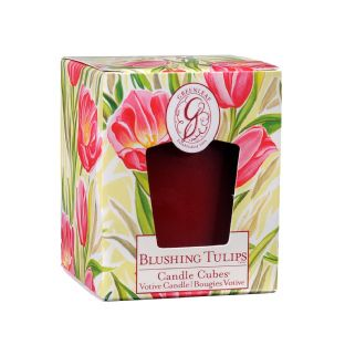 Boxed Votives Blushing Tulips